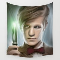 doctor Wall Tapestries featuring DOCTOR WHO - 11th Doctor  by Kayla Theodorou