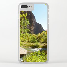 The Virgin River in Zion Clear iPhone Case