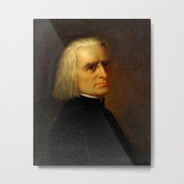 Franz Liszt (1811-1886) by Carl Ehrenberg in 1868 Metal Print