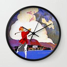 Cadenabbia Lake Como Golf And Tennis Wall Clock