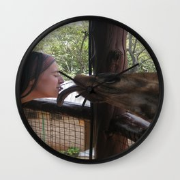 Giraffe Kisses! Wall Clock