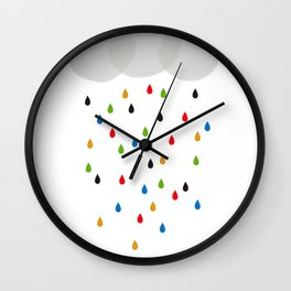 Beautiful Raining Days Wall Clock
