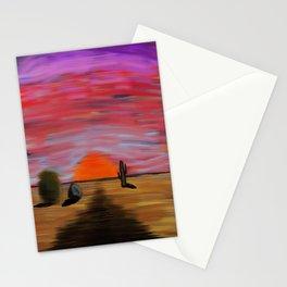 November Sunset.  Stationery Cards