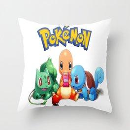 Kanto Starters  Throw Pillow
