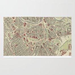 Vintage Map of Vienna Austria (1883) Rug