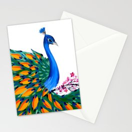 Peacock and Peahen Stationery Cards