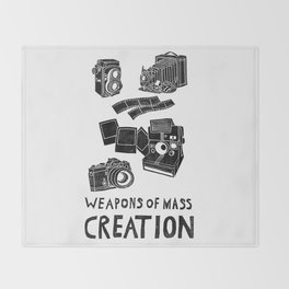 Weapons Of Mass Creation - Photography (clean) Throw Blanket