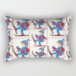 Ski Boy Rectangular Pillow