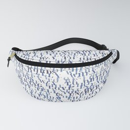 Sentences of Love Blue Fanny Pack