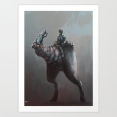 Creature rider Art Print