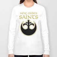 new order Long Sleeve T-shirts featuring New Order Saints by Ant Atomic