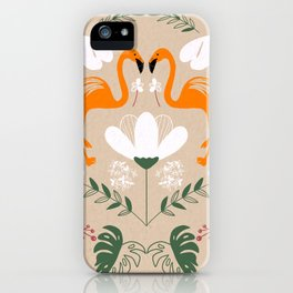 Flamingo's World iPhone Case