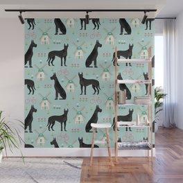 Great Dane windmills cute custom pet portrait dog lover dog breeds great danes Wall Mural