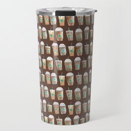Coffee Cup Line Up in Expresso Brown Travel Mug