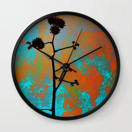 Agave Bloom Wall Clock