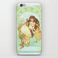 art nouveau iPhone & iPod Skins featuring Art nouveau by superkip