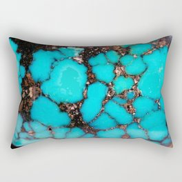 Macro Turquoise Rectangular Pillow
