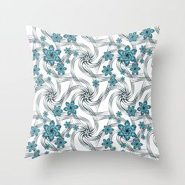 Floral pattern. Throw Pillow