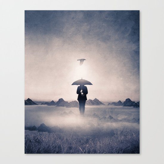 Waiting for the rain (colour option) Canvas Print