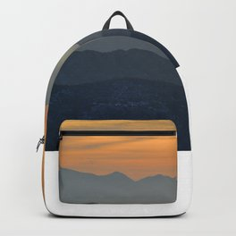 Sunset at the mountains Backpack