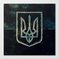 ukraine Canvas Prints featuring Ukraine by rudziox