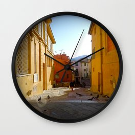 End of Day in Menton Wall Clock