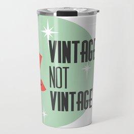 Vintage Style not Values midcentury retro pin up Travel Mug