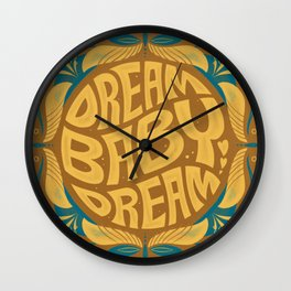 Dream Baby Dream Retro 70s Type Wall Clock