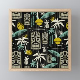 Island Tiki - Black Framed Mini Art Print