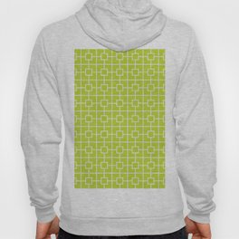 Lime Green Square Chain Pattern Hoody