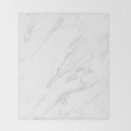 Classic White Marble Throw Blanket
