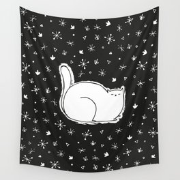 Sleeping Cat Wall Tapestry