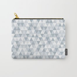 shades of ice gray triangles pattern Carry-All Pouch