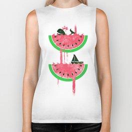 Watermelon falls Final Biker Tank