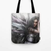 fairy Tote Bags featuring Fairy by Justin Gedak