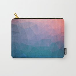 Abstract colorful triangles background Carry-All Pouch
