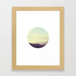 Dreamy mountain photograph of Tuscany Framed Art Print