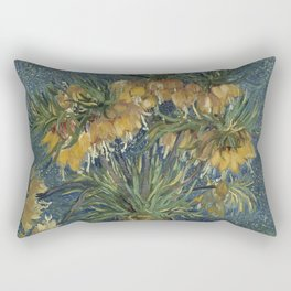 Crown Imperials in a Copper Vase Rectangular Pillow