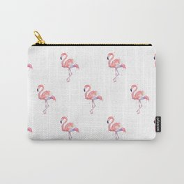 Flamingo Pattern Pink Flamingo Watercolor Carry-All Pouch