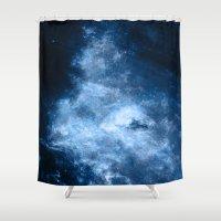 hydra Shower Curtains featuring ε Delphini by Nireth