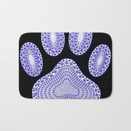 Blue Ink Dog Paw Bath Mat
