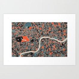 London Multicoloured Print Art Print