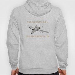 American A-10 Warthog Jet Aircraft Meme Hoody
