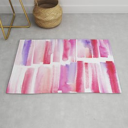 20   181101 Watercolour Palette Abstract Art   Lines   Stripes   Rug