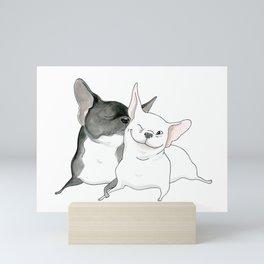Frenchie Kiss Mini Art Print