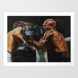 Counter punch Art Print