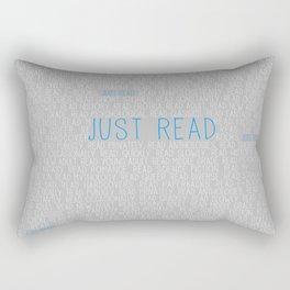 Just Read Grey Rectangular Pillow