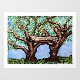 habitat: the treehouse Art Print