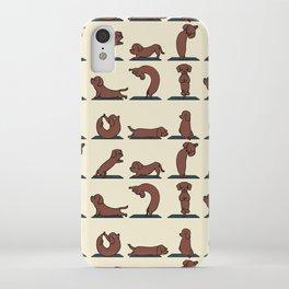 Dachshund yoga iPhone Case