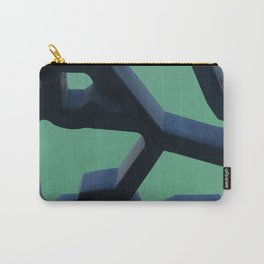 Grid and sea view Carry-All Pouch